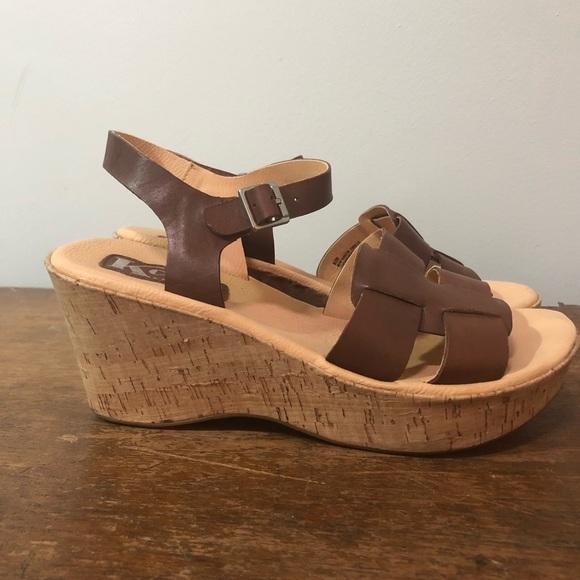 1adf7d6d1a1 Kork-Ease Shoes - Kork-ease Della wedge heel strappy comfy sandals 8